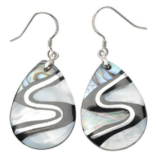 Load image into Gallery viewer, Yacq 925 Sterling Silver Abalone Shell Teardrop Drop Dangle Earrings Jewelry Gifts for Women Girls Mom Her dropshipping H204