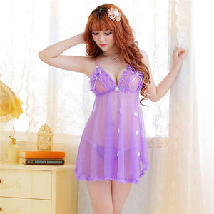Lace Sexy Nighties Women Lenceria Transparent Floral Porn Women Sexy Erotic Lingerie Babydoll Hot Sheer Sexy Underwear Nightwear - shopsatang.com