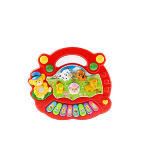 2 Types Animal Farm Piano Keyboard Musical Instrument Toy Music Toys Early Educational Toys for Children Baby Gift - shopsatang.com
