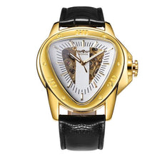 Load image into Gallery viewer, WINNER Official Sports Automatic Mechanical Men Watch Racing Triangle Skeleton Wristwatch Top Brand Luxury Golden + Gift Box - shopsatang.com