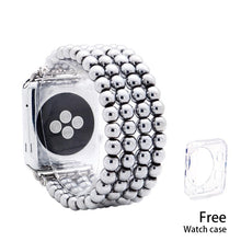 Load image into Gallery viewer, Lureen Elastic Apple Watch Band 38/40/42/44mm, with Free Watch Case, Unisex Fashion Handmade Bracelet Strap for iWatch 5/4/3/2/1 - shopsatang.com