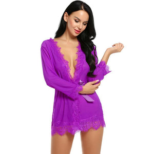 Avidlove Sexy Lingerie Robe Dress Women Lingerie Sexy Hot Erotic Plus Size Nightwear Sex Costumes Bathrobe Dressing Nightgown - shopsatang.com