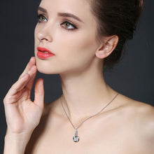 Load image into Gallery viewer, Black Awn Silver Necklace 925 Sterling Silver Fine Jewelry Trendy Engagement Necklaces for Women Wedding Necklaces Pendants P159