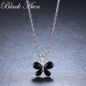 Butterfly Romantic Arrive 925 Sterling Silver Fine Jewelry Trendy Flower Engagement necklaces & pendants for Women K016