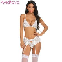 Load image into Gallery viewer, Avidlove Babydoll Sexy Mujer Bra Porn Hollow Sexy Lingerie Set Women Hot Erotic Women Lenceria Underwear Costumes - shopsatang.com