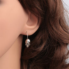 Load image into Gallery viewer, 925 Sterling Silver Skull Skeleton Dangle Drop Earrings Biker Jewelry Gifts for Women Wife Her Girlfriend Girls Dropshipping