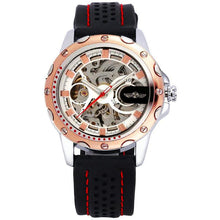 Load image into Gallery viewer, WINNER Official 2019 New Fashion Men Automatic Mechanical Watches Luxury Brand Skeleton Luminous Hands Rubber Strap Sport Clock - shopsatang.com