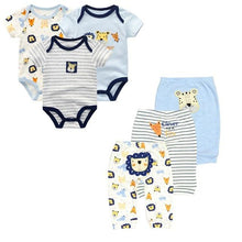 Load image into Gallery viewer, 6PCS/lot Short Sleeve Baby Romper +pant Cartoon boys Clothes sets 2020 Summer girl baby jumpsuit Kids Baby Outfits Clothing