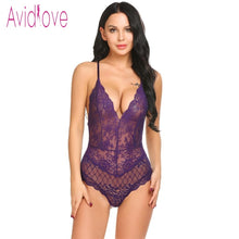 Load image into Gallery viewer, Avidlove New Lady Lingerie Sexy Hot Erotic Teddy Bodysuit Women Lace Spaghetti Strap Chemise Underwear Langeri Porn Sex Costumes