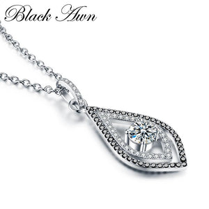 Classic 925 Sterling Silver Fine Jewelry Necklaces Pendants Trendy Engagement Necklaces for Women Wedding Pendant P088