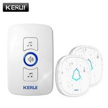 Load image into Gallery viewer, KERUI M525 Home Security Welcome Wireless Doorbell Smart Chimes Doorbell Alarm LED light 32 Songs with Waterproof Touch Button - shopsatang.com