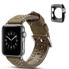 Load image into Gallery viewer, LPWHH Cow Genuine Leather Strap For Apple Watch Band Series 4 3 2 1 38mm 42mm 44mm Gift TPU Watch Case Pink Buckle Iwatch Bands - shopsatang.com