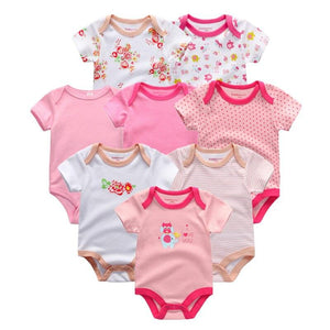 2019 8PCS/lot Clothing Sets Cotton Newborn Unicorn Baby Girl Clothes Bodysuit Baby Clothes Ropa bebe Baby Boy Clothes