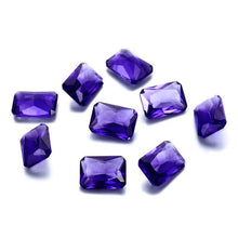 Load image into Gallery viewer, NASIYA Crystal Spinel 10*14 MM Created Rectangle Stone Cubic Zircon Bijoux Loose Gemstones for Ring Jewelry DIY 10 Pcs - shopsatang.com