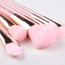 Load image into Gallery viewer, ZOREYA 10PCS Pink Crystal Makeup Brushes Foundation Concealer Blusher Make Up Brush Set Super Soft Synthetic Hair Cosmetic Tools