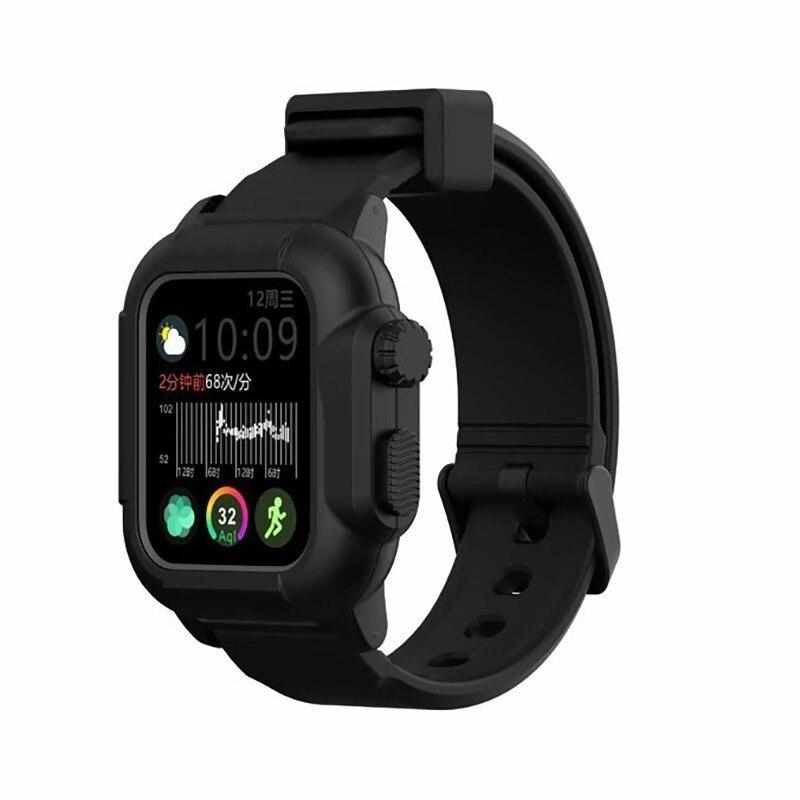 Waterproof case For Apple Watch band 4 iwatch bands 42mm Silicone Strap 44mm 40mm pulseira Bracelet smart watch Accessories loop - shopsatang.com