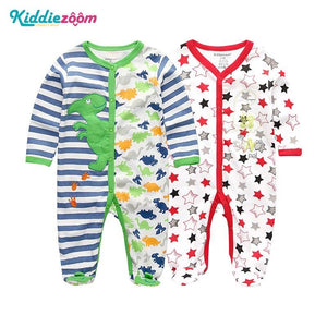 Clothing Sets Baby Girl Clothes Full Sleeve Ropa bebe 0-12M Cotton Bodysuit Costumes Baby Boy Clothes Newborn Baby Clothes - shopsatang.com