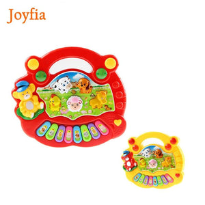 2 Types Animal Farm Piano Keyboard Musical Instrument Toy Music Toys Early Educational Toys for Children Baby Gift