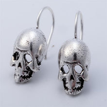 Load image into Gallery viewer, 925 Sterling Silver Skull Skeleton Dangle Drop Earrings Biker Jewelry Gifts for Women Wife Her Girlfriend Girls Dropshipping - shopsatang.com
