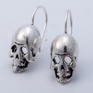 925 Sterling Silver Skull Skeleton Dangle Drop Earrings Biker Jewelry Gifts for Women Wife Her Girlfriend Girls Dropshipping - shopsatang.com