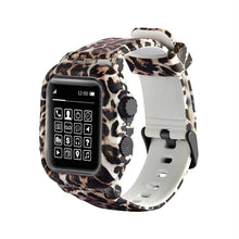 Load image into Gallery viewer, Waterproof Case For Apple Watch Band 4 iWatch Bands 42mm Silicone Strap 44mm Leopard Bracelet Cover Smart Watch Accessories - shopsatang.com