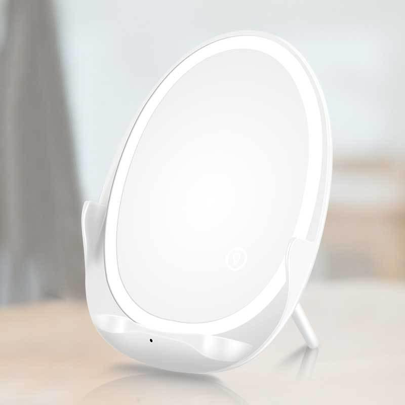 10W Touch Dimming Fill Light Makeup Mirror Wireless Charger Band Light Beauty Vanity Mirror maquillage Mirror with Light