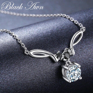 BLACK AWN New Arrival Classic Real 925 Sterling Silver Pendant Necklaces Women Wedding Jewelry for Women K025