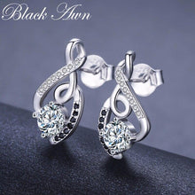 Load image into Gallery viewer, Classic 2.2g 100% Genuine 925 Sterling Silver Female Earring Fine Jewelry Vintage Wedding Stud Earrings for Women T006