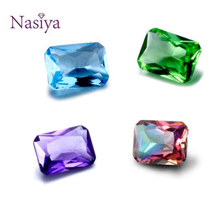 NASIYA Crystal Spinel 10*14 MM Created Rectangle Stone Cubic Zircon Bijoux Loose Gemstones for Ring Jewelry DIY 10 Pcs
