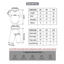 Load image into Gallery viewer, Summer toddler Baby Girls Bodysuits Sets Short Sleeve Clothing And Pants 6-12M Baby Jumpsuit roupas de bebe Baby Boys Clothes