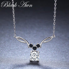 Load image into Gallery viewer, BLACK AWN New Arrival Classic Real 925 Sterling Silver Pendant Necklaces Women Wedding Jewelry for Women K025 - shopsatang.com