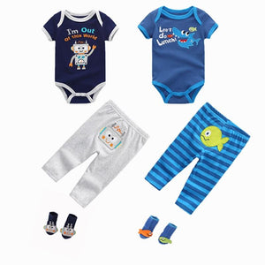2019 Summer toddler Baby Boys&Girls  Bodysuits Sets Short Sleeve O-Neck Clothing 6-12M Baby Jumpsuit Ropa bebe Baby Clothes - shopsatang.com