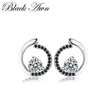 Load image into Gallery viewer, Genuine 925 Sterling Silver Fine Jewelry Trendy Engagement Stud Earrings for Women Bijoux Female Earring T011 - shopsatang.com