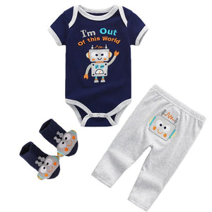 2019 Summer toddler Baby Boys&Girls  Bodysuits Sets Short Sleeve O-Neck Clothing 6-12M Baby Jumpsuit Ropa bebe Baby Clothes