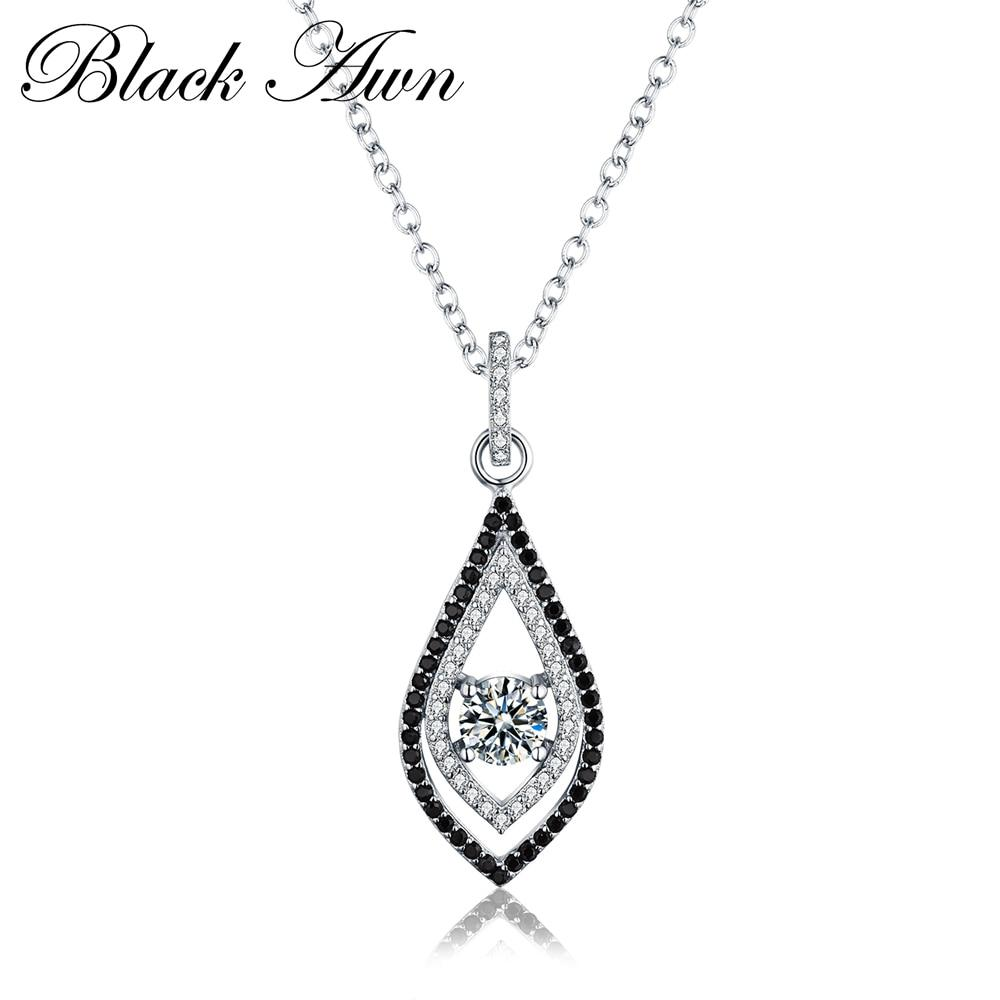 Classic 925 Sterling Silver Fine Jewelry Necklaces Pendants Trendy Engagement Necklaces for Women Wedding Pendant P088 - shopsatang.com