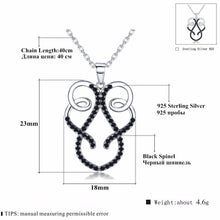 Load image into Gallery viewer, Classic Arrive 925 Sterling Silver Fine Jewelry Trendy Engagement necklaces & pendants for Women Bijoux Femme Fine Jewelry K032
