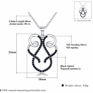 Classic Arrive 925 Sterling Silver Fine Jewelry Trendy Engagement necklaces & pendants for Women Bijoux Femme Fine Jewelry K032