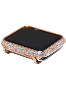 Luxury Diamond Case+Stainless Steel strap For Apple Watch Series 5 4 3 2 1 bands cover iWatch 38mm 42mm 40mm 44mm bracelet women