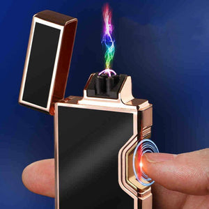 Infrared Switch Plasma  Usb Cigarette Electric Lighter  Gadgets for Men Electronic Arc Metal  Rechargeable Lighters Smoke