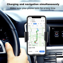 Load image into Gallery viewer, Car Mount Qi Wireless Charger For iPhone 11 XS XR X 8 Quick Charge 10W Fast Charging Car Phone Holder Stand For Samsung S10 S9