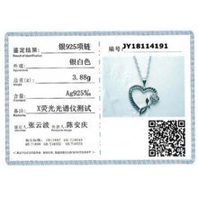 Load image into Gallery viewer, 2019 New Heart Flower Romantic 925 Sterling Silver Fine Jewelry Trendy Flower Engagement necklaces & pendants for Women KK008