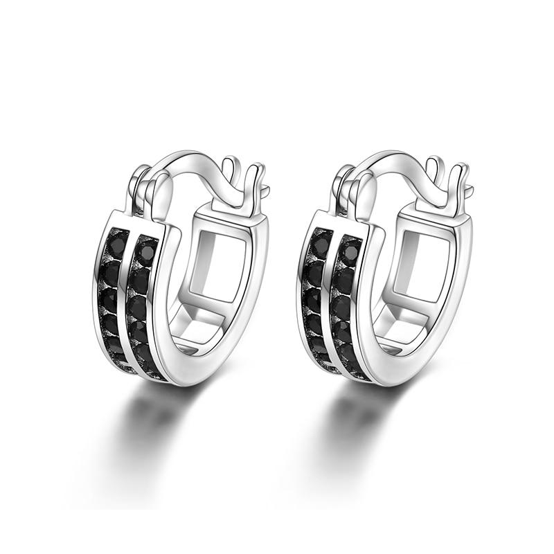 Black Awn Birthday Present 925 Sterling Silver Square Black Spinel Trendy Engagement  Earrings for Women Fine Jewelry II019 - shopsatang.com