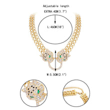 Load image into Gallery viewer, Tuliper чокер Panther Choker Necklace Statement Leopard Animal Crystal Pendant For Women Party Jewelry Collier Femme Collares