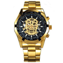 Load image into Gallery viewer, WINNER Steampunk Skull Auto Mechanical Watch Men Black Stainless Steel Strap Skeleton Dial Fashion Cool Design Wrist Watches - shopsatang.com