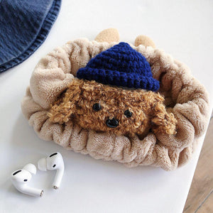 3D Cute Earphone Case for Airpods Pro Case Cartoon Knitted plush Cover for Apple Airpods 3 Pro Brown Bear Headphone Earpods Case