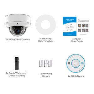 Hikvision Compatible 4K 8MP Dome Outdoor Security Camera POE H.265 Built-in SD Card Slot CCTV IP Camera ONVIF IR 30m