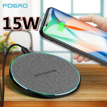 Load image into Gallery viewer, FDGAO Wireless Charger Qi 15W 10W QC 3.0 USB C Fast Charging Pad For iPhone 11 Pro Max XS XR X 8 Samsung S10 S9 S8 Note 10 9 8