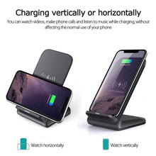 Load image into Gallery viewer, DCAE 15W Qi Wireless Charger For iPhone 11 Pro X XS MAX XR 8 Samsung S9 S10 S20 Plus Note 10 9 Fast Charging Phone Holder Stand