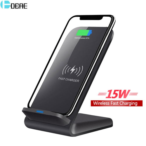 DCAE 15W Qi Wireless Charger For iPhone 11 Pro X XS MAX XR 8 Samsung S9 S10 S20 Plus Note 10 9 Fast Charging Phone Holder Stand