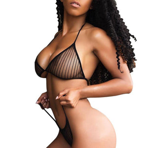 Sexy Lingerie Set Hot Erotic Bra G-string Women Set Lace Up Crochet Crotchless Underwear Perspective Porno Sleepwear Intimate - shopsatang.com